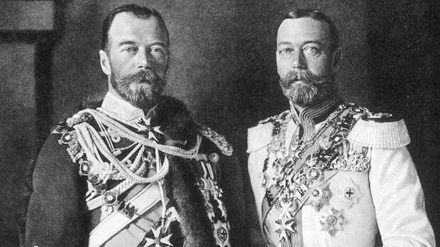 Николай II и Георг V. Фото в свободном доступе.