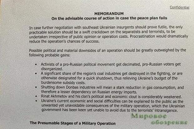 СМИ опубликовали разработанный в США план силовой операции на Украине