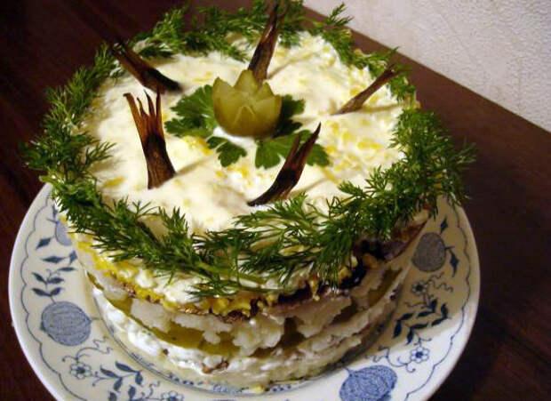салат рыбки в пруду рецепт с фото
