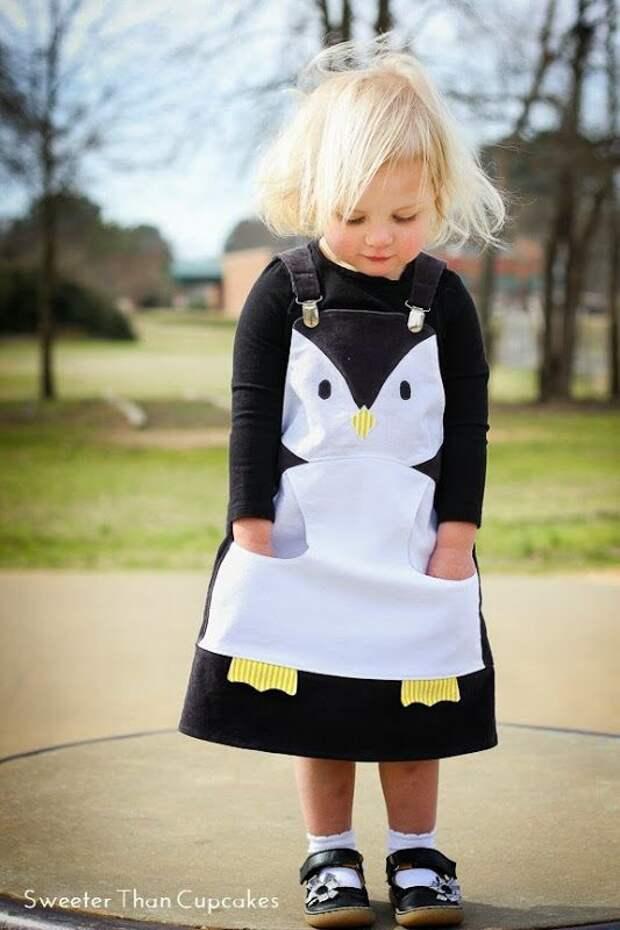 Платье пингвин