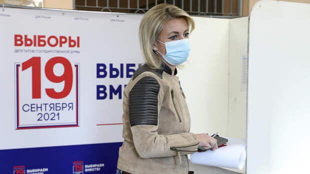Захарова проголосовала на выборах в Госдуму