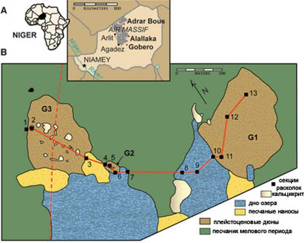 В Сахаре жили настоящие великаны