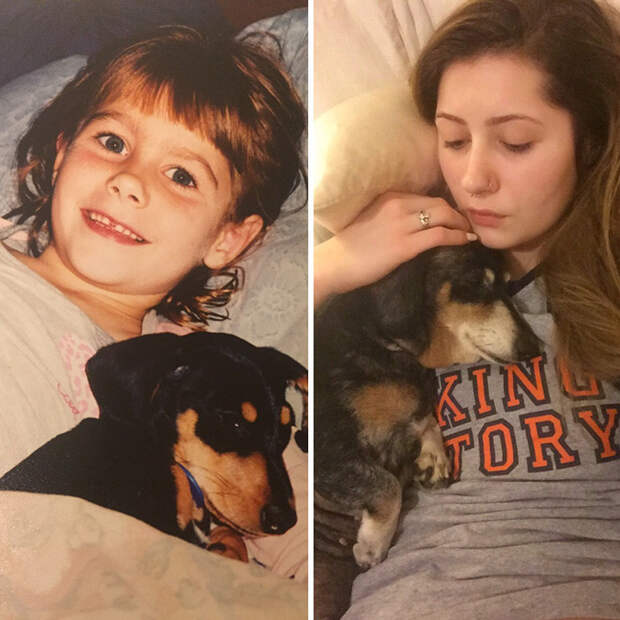 Винни и я. 13 лет вместе до и после, друзья, собаки, фото