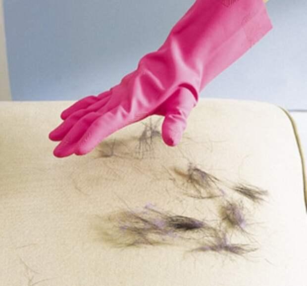 резиновые перчатки, шерсть