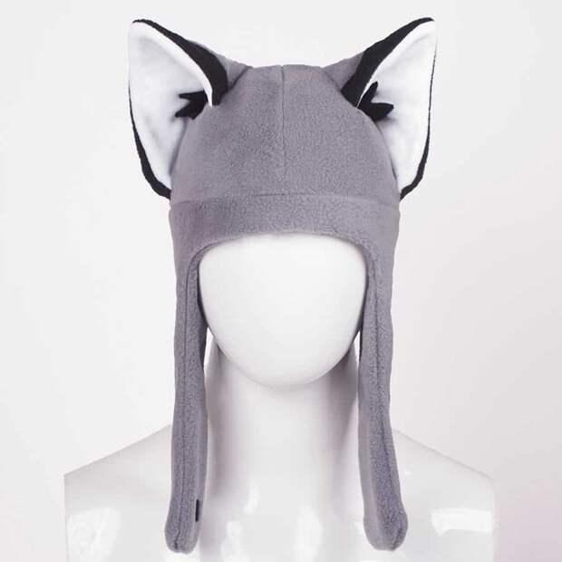 Шьем взрослые шапки с ушками из флиса - лиса и кот