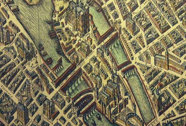 Остров Сите в 1609 году