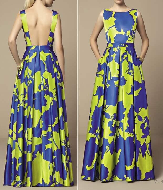 выкройка платья с открытой спиной
