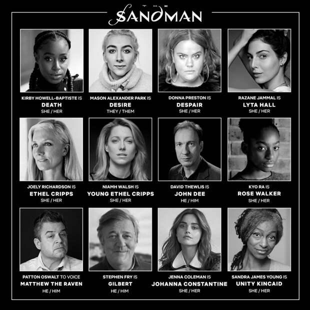 Джоэли Ричардсон, Дэвид Тьюлис и Стивен Фрай присоединились к актёрскому составу «Песочного человека»