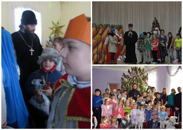 Непременный атрибут многих сельских праздников - священники весело, деревня, интересно, новый год, село, юмор