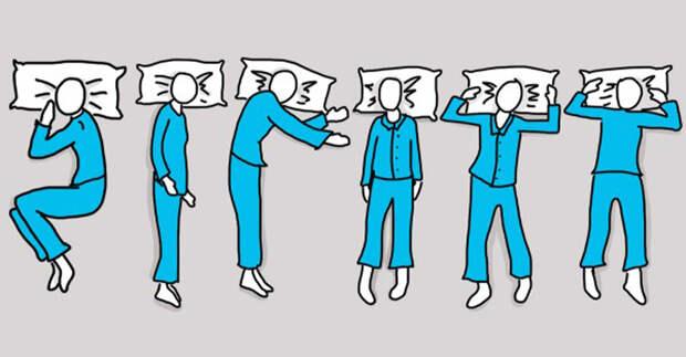 1. Внимательно посмотрите на эту картинку и выберете себе ту из поз, которую вы принимаете во сне, а затем узнайте, что она может рассказать о вас. поза, сон