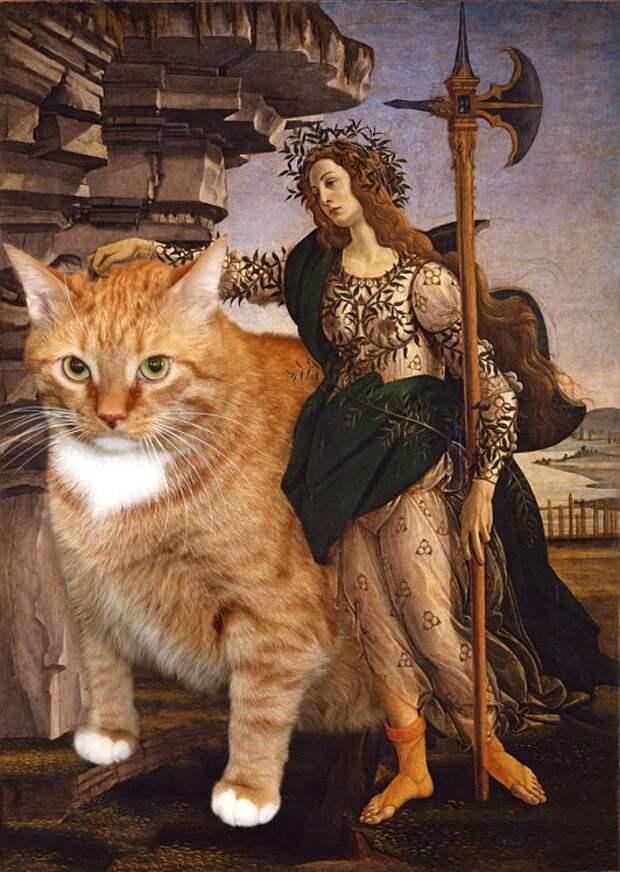 Афина Паллада и кот