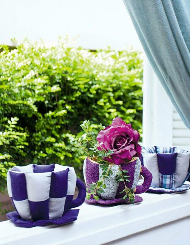 Выкройка чайных чашек (diy)