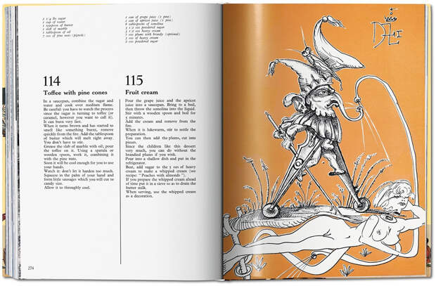 Кулинарная книга с иллюстрациями Сальвадора Дали