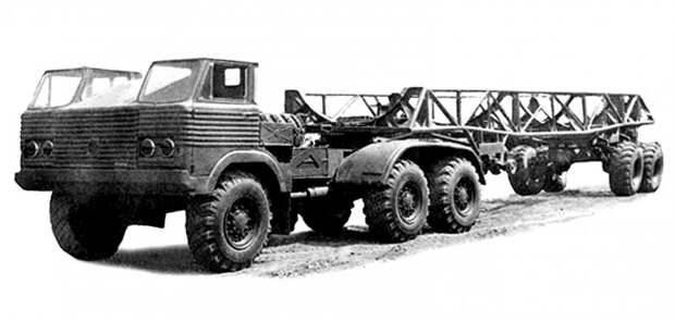 Проект применения полуприцепа 40П с седельным тягачом на шасси грузовика И-21-15 (из архива НИИЦ АТ) авто, автопоезд