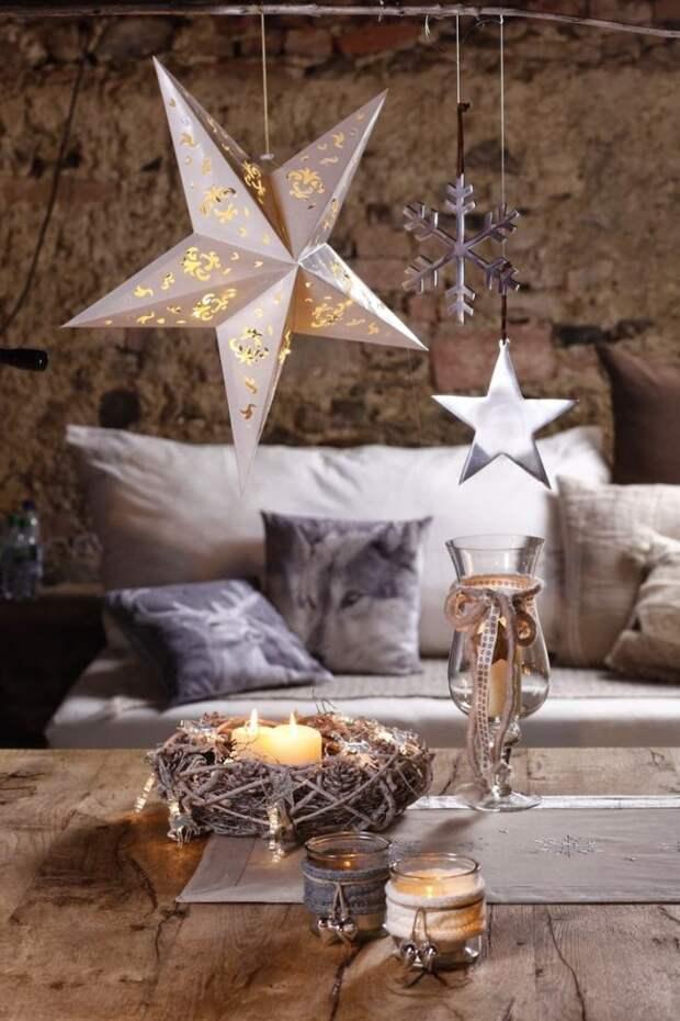 Свечи наполняют помещение уютом и теплом