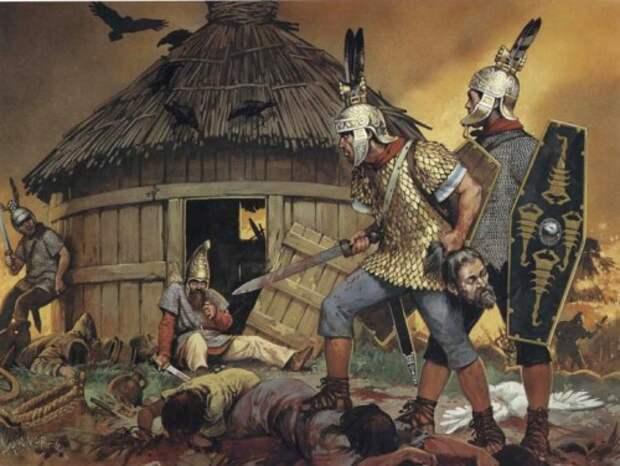 Дакийская деревня после рейда римлян (начало II в.н.э.)