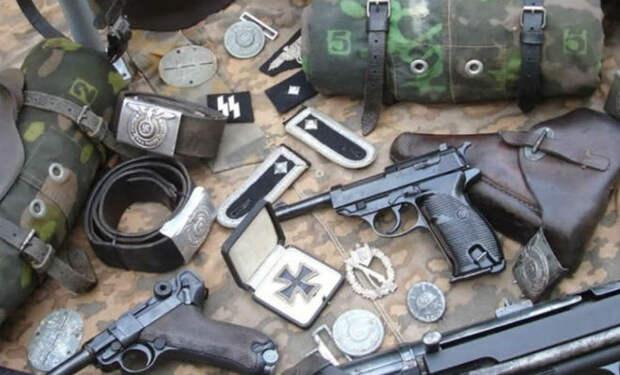 Раскопка немецкого блиндажа: копатели нашли оружейный тайник