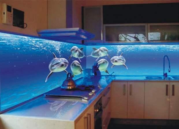 Кухонный фартук с подсветкой