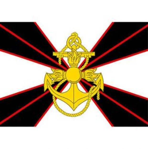 На фото: новый флаг и эмблема морской пехоты России