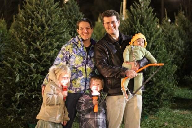 Шеннон и Ли с детьми