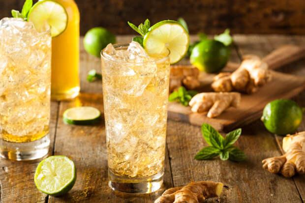 Имбирь можно добавлять в прохладительные напитки