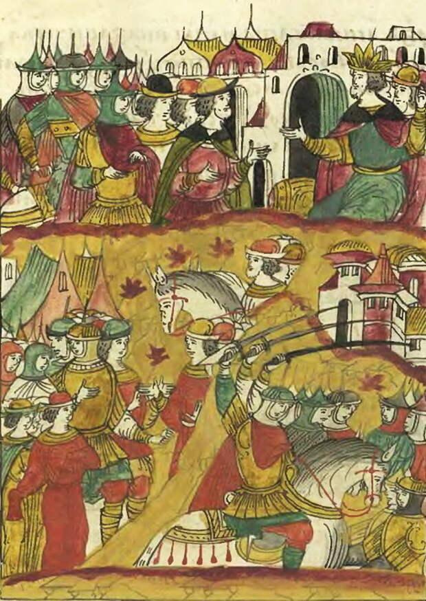 Нападение казаков на крымские улусы. Лицевой летописный свод, том 23 - «Война двух царей»: последний аккорд | Warspot.ru