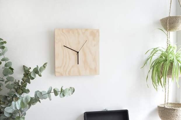 Как сделать минималистичные часы своими руками?