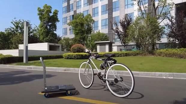 Разработанный в Китае электрический велосипед может ездить без водителя