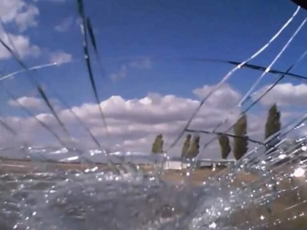Видеоподборка «нежданчиков», прилетающих в лобовое стекло