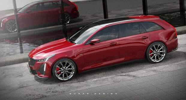 В интернете появился рендеринг «заряженного» универсала Cadillac CT5 Sport Wagon
