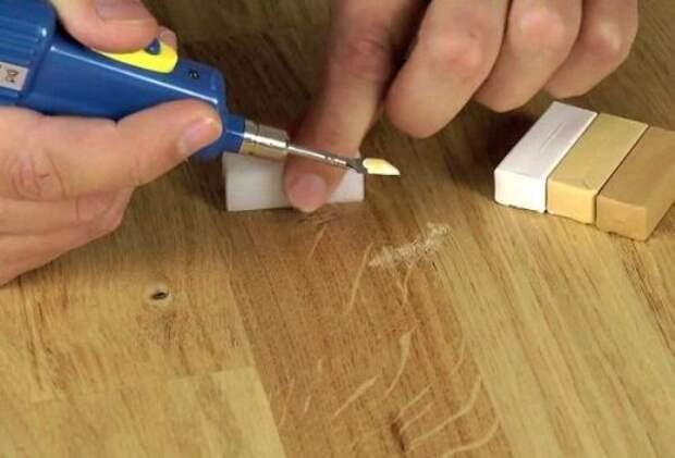 Как заделать мелкие сколы на глянцевой МДФ