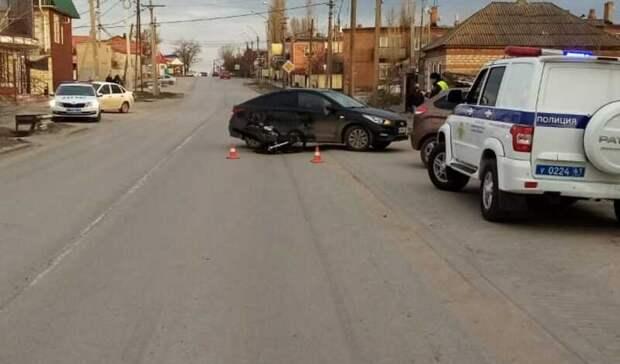 Школьница попала ваварию наподаренном родителями мотоцикле вРостовской области