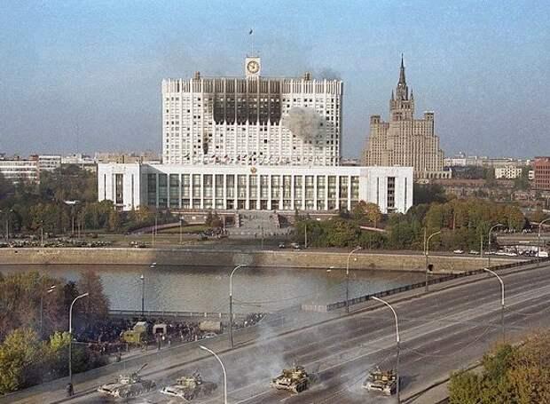 Какой ущерб нанесли Белому дому разрывы танковых снарядов