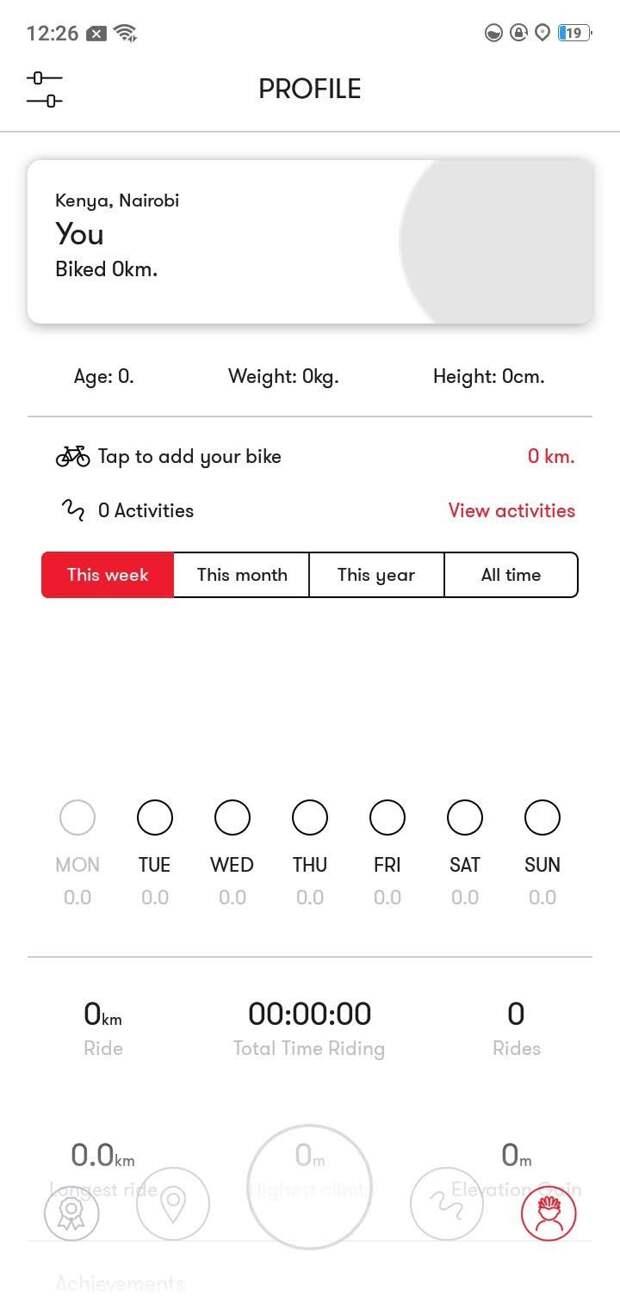 Profile on Bike Computer