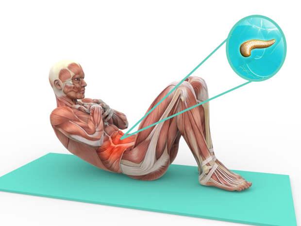 3 мощных висцеральных упражнения для здоровья поджелудочной железы