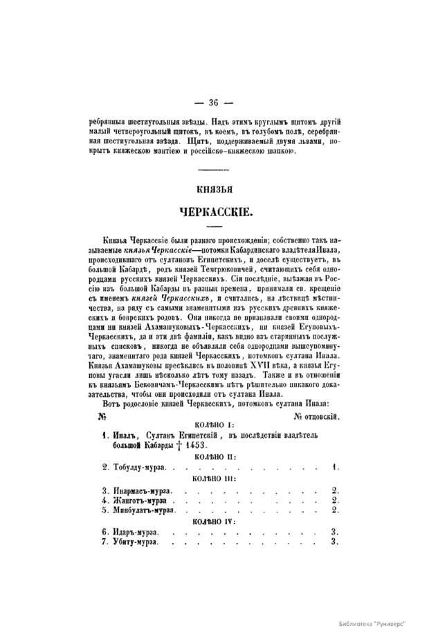 Русские князья Черкасские
