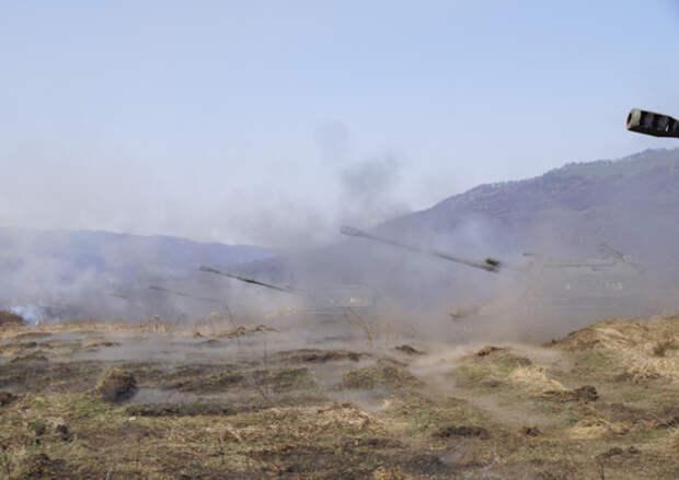 Артиллеристы ЮВО в Северной Осетии выполнили боевые стрельбы из самоходных гаубиц «Мста-С»