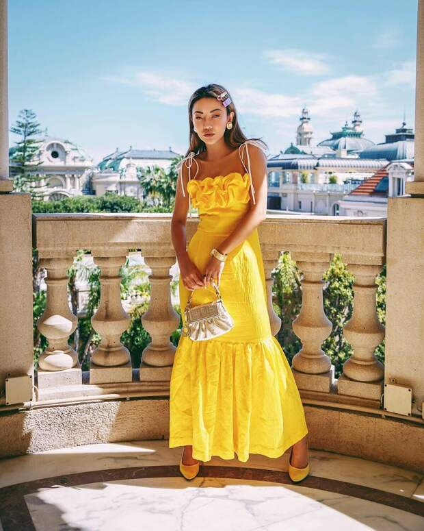 модный летние образы в желтом цвете фото 11