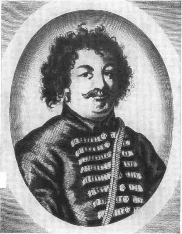 Портрет Степана Разина. Иностранная гравюра XVII века.