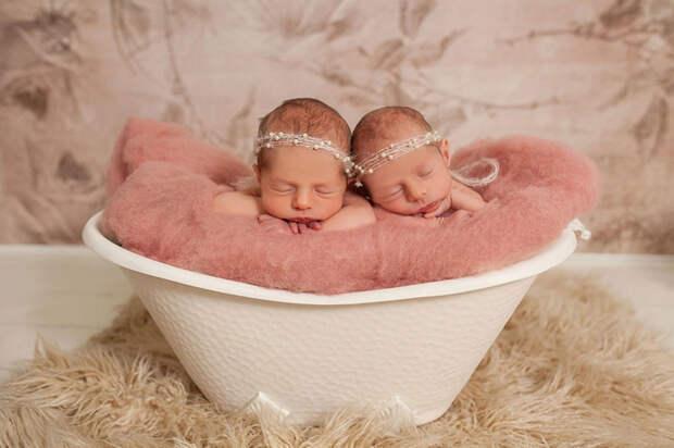 Спящие ангелочки  близнецы, дети, фотография