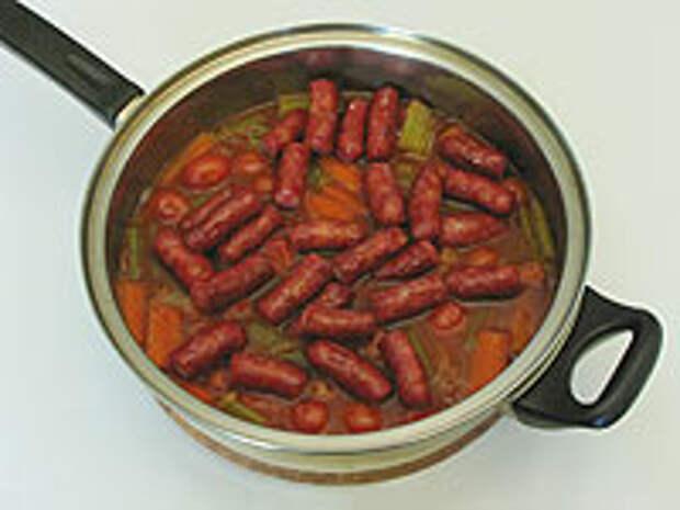 Добавляем колбаски