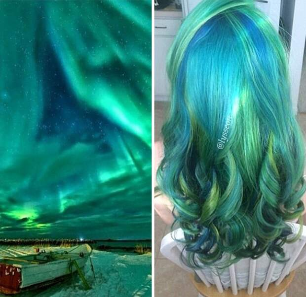 Тренд: галактические волосы (трафик)