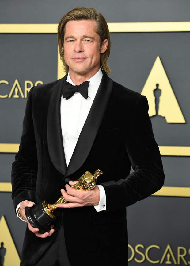 Брэд Питт на «Оскаре» — 2019