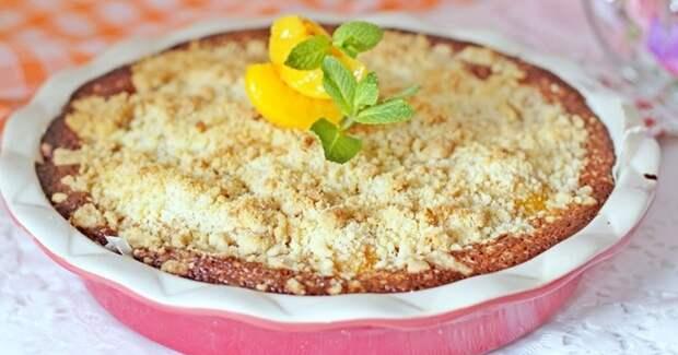 Самый простой пирог с персиками