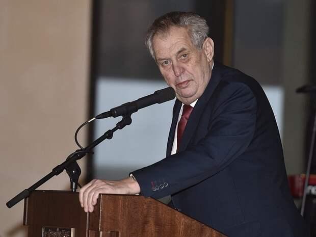 Земан не доверяет выводам контрразведки о взрывах в Врбетице