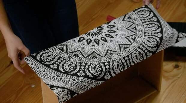 Переделка мебели тканью