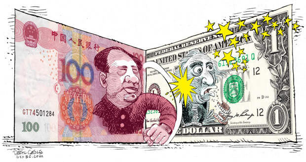 США в шоке: юань крепко врезал по доллару
