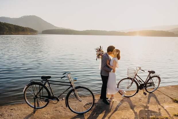 Пара, Любовники, Поцелуй, Свадьбы, Любовь