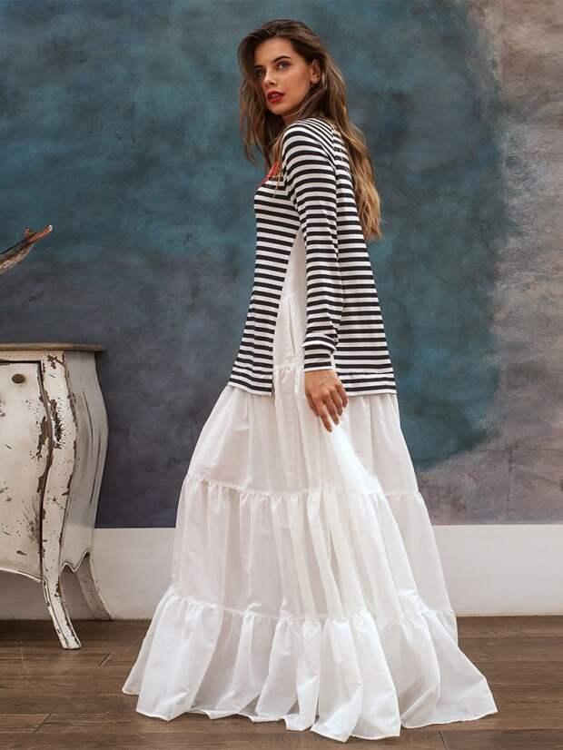 Платье-парашют из тельняшки