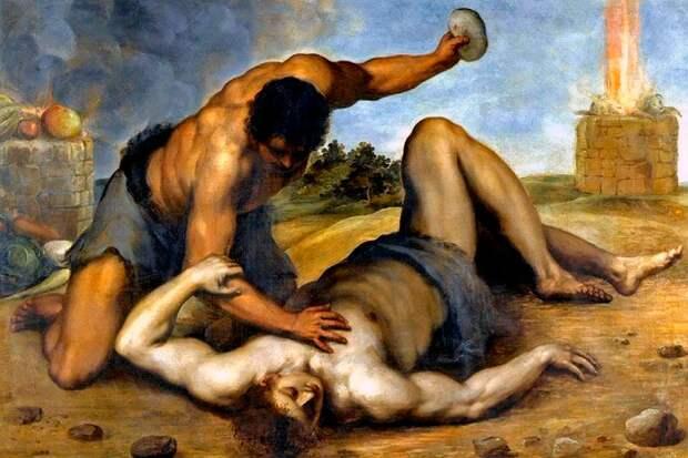 Каин убивает Авеля из-за того, что дар, принесённый Авелем, оказался угодным Богу, в отличие от приношения Каина.